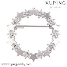 00007-xuping elegante hijab pins broche, broches de casamento estrela