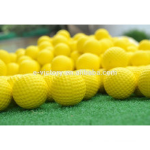 Whole Sale 2 Piece Golf Practise Pure yellow Brand Golf Balls 2014 High Quality Hit More Than 800 Times