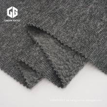 Suéter de poliéster Hacci Fabric con un lado cepillado
