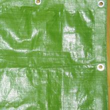 Зеленый пластиковый брезента PE