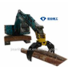 Grappin hydraulique KUBOTA KX161, grappin de fixation de pelle, grappin à bois