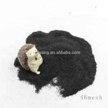 Verwendet für Bodenpolieren schwarzer Korund / schwarzes geschmolzenes Aluminiumoxid zum Fabrikpreis für Verkauf
