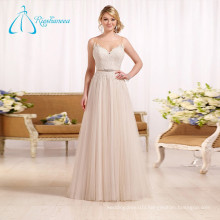 Tulle Satin Sashes Crystal Button Lace Wedding Dresses