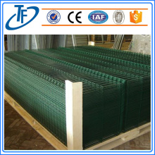 Square post assembled Welded Curved wire mesh fence