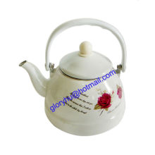 enamel kettle with plastic handle and full design