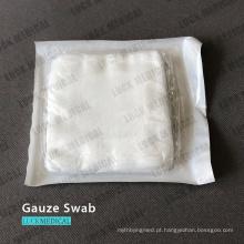 Tecido de algodão com gaze para cotonete médico