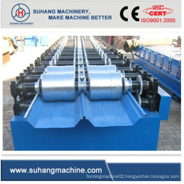 Boltless Roof Sheet Cold Roll Forming Machine with Hydraulic Cutting