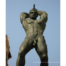 large outdoor garden metal craft nude male garden statues for sale