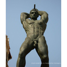 большой открытый сад металл ремесло обнаженной мужской сад статуи для продажи
