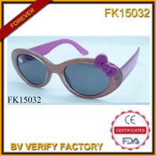 Zwei Farben Nähte Cartoon Cat Sonnenbrille für Kinder (FK15032)