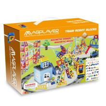 Vente en gros de bricolage 258 PCS Rail Car Set Jouets éducatifs magnétiques pour enfants