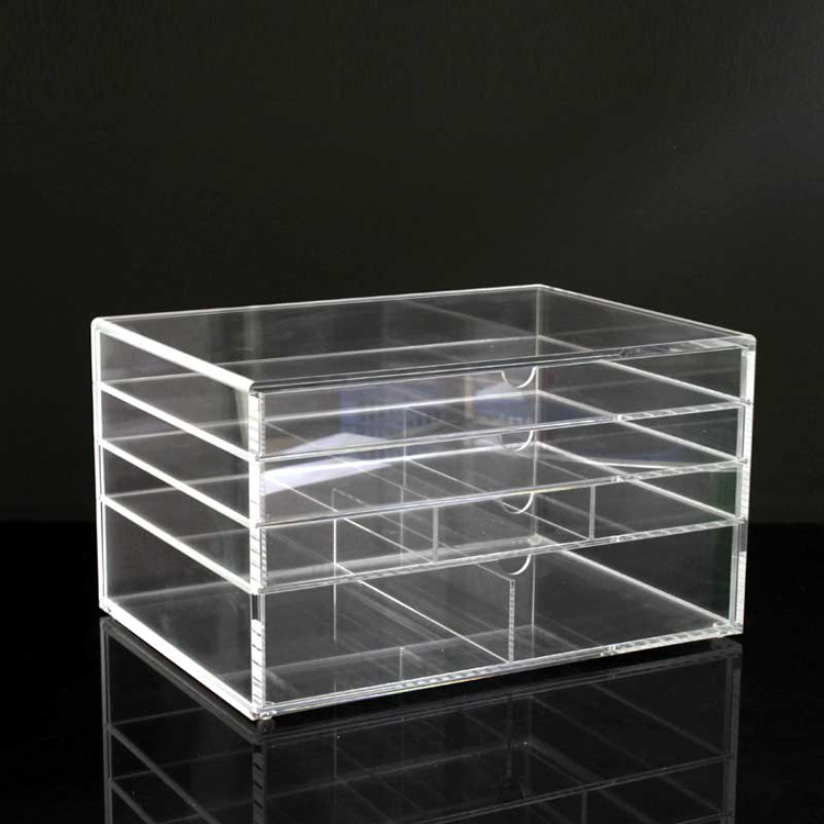 Cheap 4 Drawer Acrylic Makeup Organizer Box