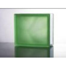 190 * 190 * 80mm Acid Green Bewölkt Farbe Glas Block