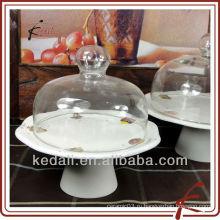 Держатель керамической подставки для пирога со стеклянной крышкой