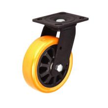 Rouleau en PU à frein à pédale à double pédale de type lourd (KHX3-H9-A)