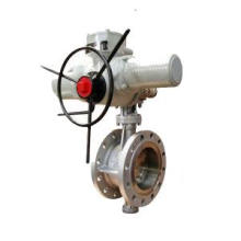 Double Flanged listrik Butterfly Valve