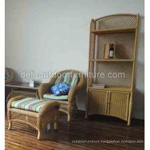 Outdoor Furniture Cabinet Cupboard Aluminum Rattan Bookrack Bookshelf
