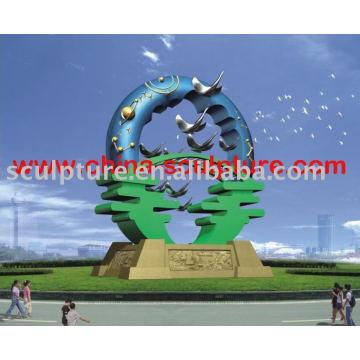 Edelstahl abstrakte Kunst Skulptur für Garten