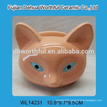 Ceramic napkin holder with fox design