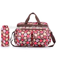 2016new design waterproof diaper bag baby high capacity Stripes Floral diaper bag multifunction backpack diaper bag for Pregnant