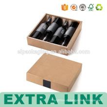 4 Flasche Kartonträger bedruckt Wein dekorative Boxen