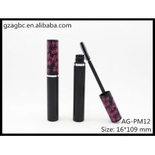 Encantadora & vazio plástico redondo tubo de rímel AG-PM12, embalagens de cosméticos do AGPM, cores/logotipo personalizado