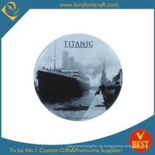 Titanic Printed Logo Zinn Button Abzeichen in niedrigem Preis
