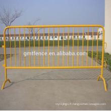 Barrière de contrôle de foule de concert à vendre, barrière radio bidirectionnelle, barricade piétonnière amovible