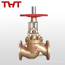 Aço inoxidável / Material de bronze flange válvula de globo de oxigênio para oxigênio