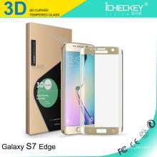 2016 Nuevo! El teléfono móvil 9H ultra claro 0.26mm / el teléfono celular moderó al guardia de cristal de la pantalla para el protector del borde de la galaxia s7 de Samsung