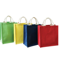 Wholesale high quality colorful linen handbag
