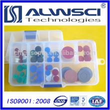 11 mm Silicone pré-perçage à basse température Bleu haute température Septa