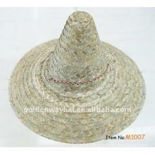 cheap Plain mexico straw sombrero hat