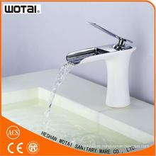 White Color Single Lever Basin Water Mixer