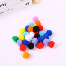 Factory direct sale 1cm-3cm Multi color Arts Pompoms For Kids diy