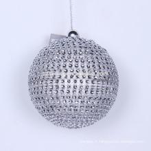 paillette boules de noël boules de Noël imprimées délicates boule de Noël polyfoam