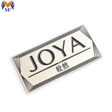 Custom metal brand logo for cap