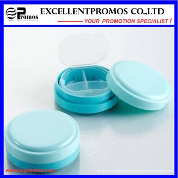 Alta qualidade Round forma logotipo personalizado Pillbox (EP-031)