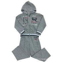 Trajes de deporte de Terry Girl franceses en ropa para niños Swg-113