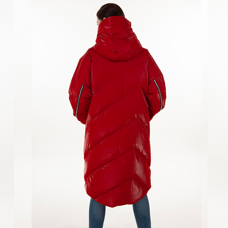 Down jacket red