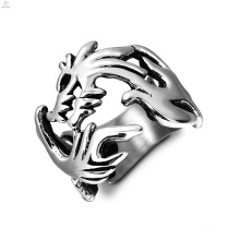 Stainless Steel Vintage Chinese Loong Statement Dragon Rings