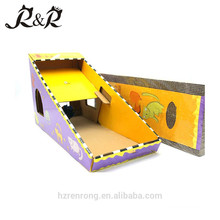 Wholesale triangular design corrugated sheets can be replaced scratching post wish ball CS-2002