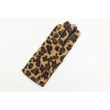 Gants de cuir imprimé au léopard pour femme