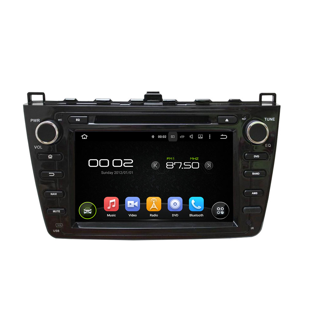 Black MAZDA 6 2008-2012 car DVD player