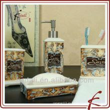 2015 Nuevos accesorios de cerámica al por mayor del cuarto de baño del diseño fijados
