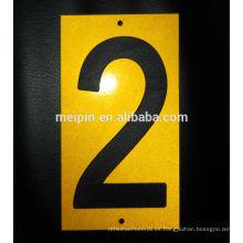 signos reflectantes para números de casa y números de buzón