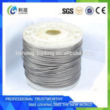 Cuerda de alambre de acero recubierto de plástico 1x19