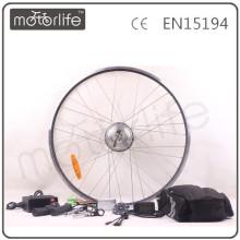 Kit de conversión de bicicleta eléctrica MOTORLIFE / OEM 250W con batería de plomo