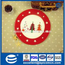 Домашнее украшение стола рождество керамическая плита плодоовощ сделанная в фарфоре
