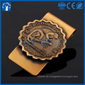 kundenspezifische 3D antike Vergoldung Geld Clip Metall